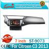 China factory 2 din car dvd GPS navigation system for Citroen C3 2013 car auto radio gps