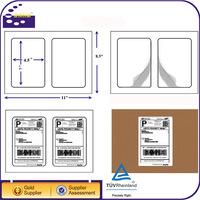 Self Adhesive White Laser Inkjet 5.5x8.5 Half Sheet 1,000 Shipping Labels
