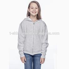 Girls long sleeve zip up hoodies in OEM service