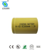 sc 1.2v 2000mah ni-cd rechargeable battery