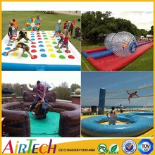 inflatable game, exciting inflatable twister game,fun inflatable bowling lane game