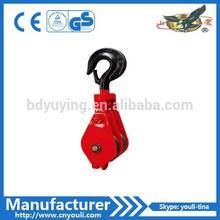 open single double triple wheel sheave pulley block
