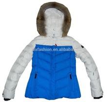 OEM fashion qulited winter outdoor waterproof ladies skiing jacket/snow down coat