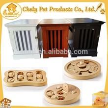 Eco-friendly Wood Product Dog Cage Dog Toy Pet Feeder Training Toy