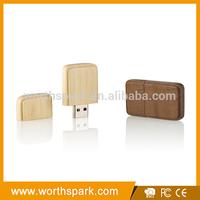 square wood promotional usb sticks