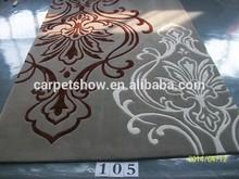 Fashion good modern design flower floor hand made colorful round rugs