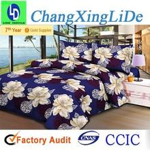 New Design Bed Sheet 100% Brushed Polyester Fabric Big Flower