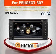 Hifimax double din car dvd gps for peugeot 307 car dvd gps navigation system