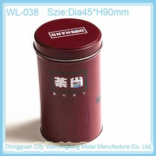 high quality stylish round tin box for tea packing