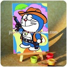 Cowboy cat Doraemon DIY paintings