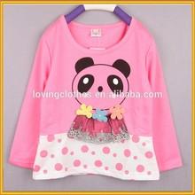 Hot Fashion Cheap Popular Beautiful Girls' T-Shirts Wholesale Bowknot T-Shirts Children's T-Shirts