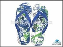 Natural men's blue flip flop for advertising