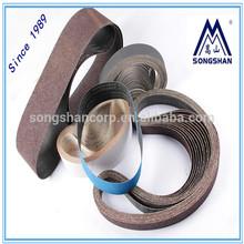 Flexible BJN31S aluminum oxide sanding belt J- terylene+cotton coated abrasive sanding sheet dry