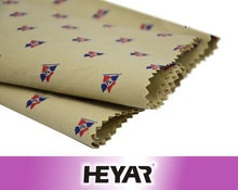 40s 160gsm 100% cotton flag print twill fabric