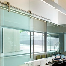 tempered glass system sliding automatic door
