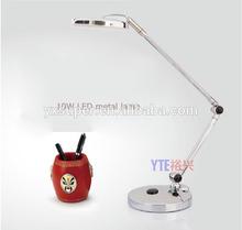 10w metal chrome LED desk lamp , fashional 10watt led table lamp metal make for Star hotel