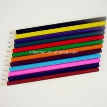 7'' 12 colors round shape wood color pencil