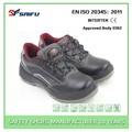 Sf1502-1 negro de acero del dedo del pie zapatos de oficina