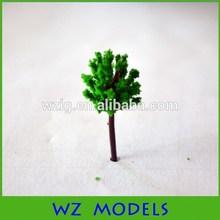 Mini 15 mm vert échelle architecturale arbre du modèle / plastique Mini arbre ho maquette trains mise en page