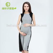 SO001 elegant cotton sleeveless occasion maternity dresses