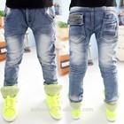 Kz3619 wholesale fashion children 2015 Spring child clothes kids clothing boys Korean latest new hot vogue trendy trousers jeans
