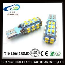 White T10 194 168 W5W 28 SMD 1206 LED Car Side Wedge Light Lamp Bulb