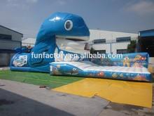 2015 commercial inflatable big slide, inflatable jumping slide for sale