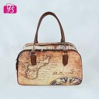 new style fashion leather handbags wholesale china, carrying bag, map handbag