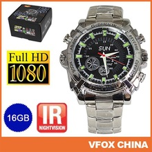 16G 1080P watch Camera HD DVR Hidden Mini DV Video Recorder with IR Night Vision