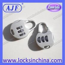 AJFA small lock zinc alloy ROHS digital pink lock for travel bags