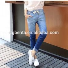 2015 women's two color tight denim pants denim jeans