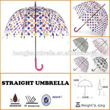Bubble Clear Dome umbrella Curved handle Rain umbrella