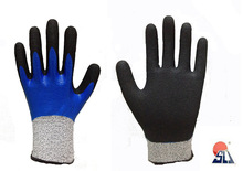 SLJsafety two lays nitrile foam coated work glove