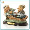 Durável e útil do polyresin resina pirata figurinhas/resina navio pirata figurines