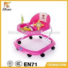 Cheap EN71 music 8 wheels baby walker/baby toy walker Tianshun 520