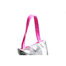 2015 The most Popular Beautiful Shiny Silver Tote Shopping Bag for Teens