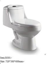 /B301 Hot Sale One Piece Toilet Color Toilet Portable Toilet
