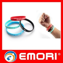 Hot Sales Debossed Sport Silicone Bracelet Laser Engraving