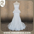 Sirena del tren del barrido del amor sin tirantes del cordón del vestido de boda y el marco moldeado - IBL01352