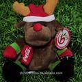 De moda de canto y baile juguetes de la felpa de animación reno de la navidad
