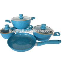forged fry pan & pot,9pcs Aluminium cookware sets