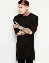 Extended long hem t-shirt blank