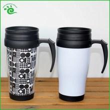 Printed Pattern Travel Coffee Plastic Mug