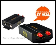Real time powered GPS Tracker tk 103 a/vehicle tracking system TK103 higher quality& lower price tracker with google map track