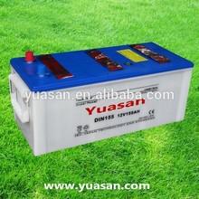 Yuasan 12V155AH Heavy Duty DIN Dry Charged 12V Batteries--DIN155(12V155AH)