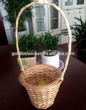 split wicker&wood chip storage basket gift&wedding decorative basket bathroom use basket candy basket