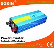 Intelligent pure sine wave dc ac power inverter 2500w 12v 220v