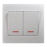 European standard 2 g 1 way switch with light--U104-N smart home wall socket european standard wireless wifi wall socket