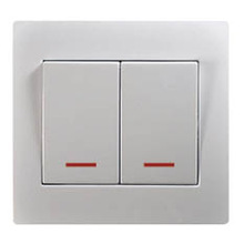 European standard 2 g 1 way switch with light--U104-N smart home wall socket european standard wireless wifi wall socket