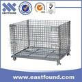 galvanizado arame cesta dobrável fio gaiola de aço para o armazenamento